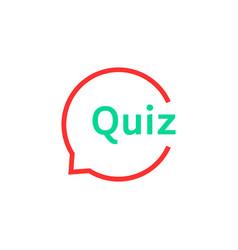 Linear quiz speech bubble vector