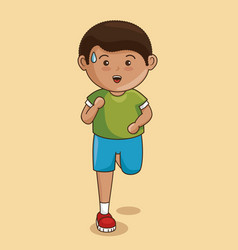 Little boy athlete character vector
