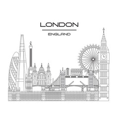 london skyline line art 9 vector image