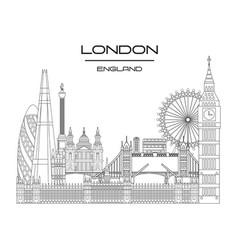 London skyline line art 9 vector