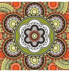 mandala pattern greeting card vector image
