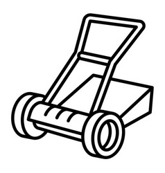 Manual lawnmower icon outline style vector