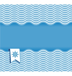 marine background with ropes vector image
