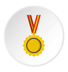 medal icon circle vector image