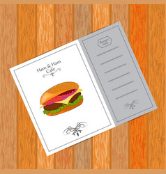 menu for fast food cafe vector image