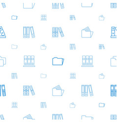 organize icons pattern seamless white background vector image