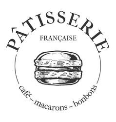 patisserie cafe vintage label vector image