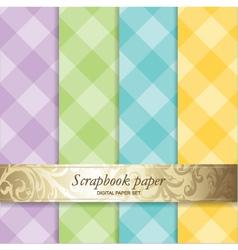 Pattern scrapbook paper vector