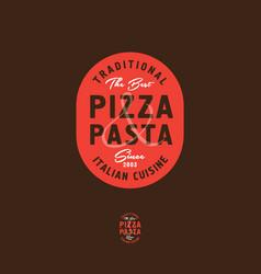pizza and pasta italian restaurant logo vector image
