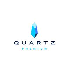 quartz stone logo icon vector image