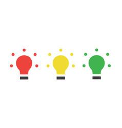 Red yellow green led traffic lights light bulb vector