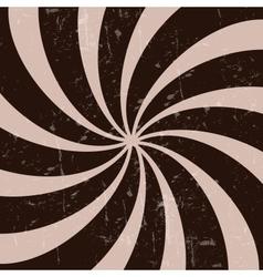 Retro vintage grunge hypnotic CHOCOLATE background vector