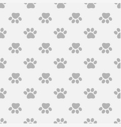 seamless pattern with paws footprints vector image