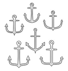 set of anchor vector image