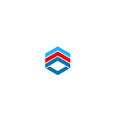 shape cube line colored business logo vector image