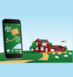 Sheep tracking monitoring in smart farm vector