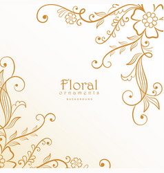 Stylish lovely floral decoration background vector