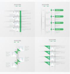 Timeline design 4 item green gradient color vector