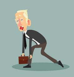 tired businessman cartoon design vector image
