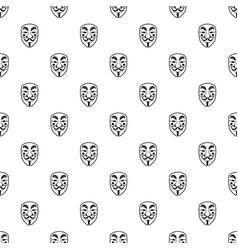 Vendetta mask pattern vector