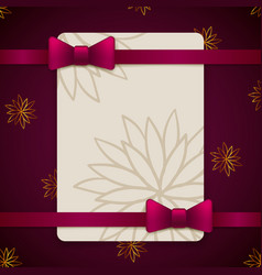 vintage greeting card template vector image