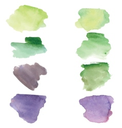 Watercolor grunge spots banners for your design vector image