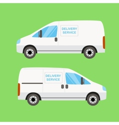 White delivery van twice vector