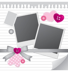 White frame for photos vector