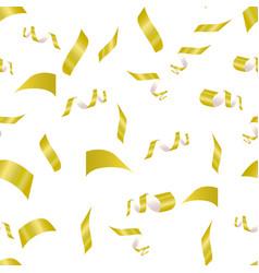 Yellow confetti on a white vector
