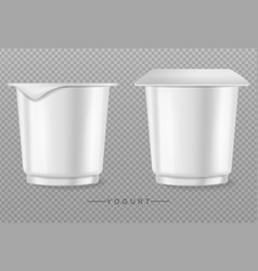 yogurt isolated on transparent realistic vector image