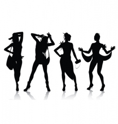 fashion model silhouettes vector image vector image