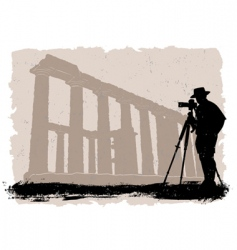 photographer with historical vector image