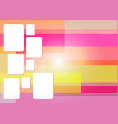 Pink square abstract background vector