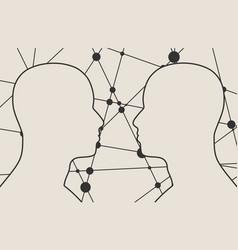 silhouette of a men head vector image vector image