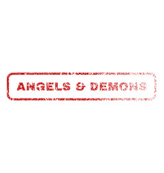 angels demons rubber stamp vector image
