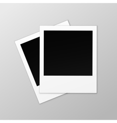 Blank retro photo frames close up on background vector
