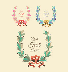 Collection of Design Floral Leaf Elements vector image vector image