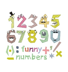 Funny Numbers Set vector image vector image