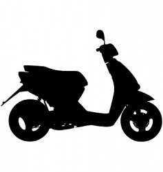 moped vector image vector image