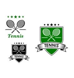 Tennis sporting emblems vector image