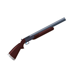 isolated shotgun weapon vector image