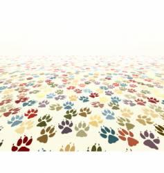 paw floor vector image vector image