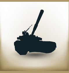 simple battle tank vector image vector image