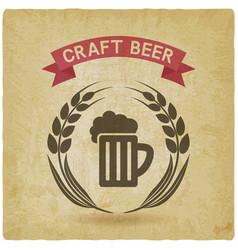craft beer banner mug of beer and ears of barley vector image
