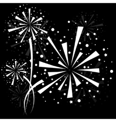 Firework white vector image vector image