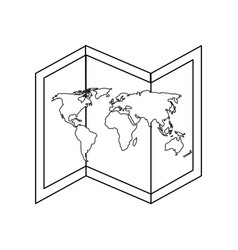isolated world map vector image