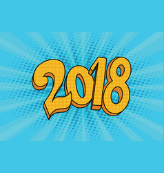2018 two thousand eighteen year vector