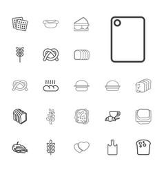 22 bread icons vector