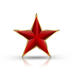 3d red star vector image