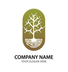Abstract branch and tree logo for company vector